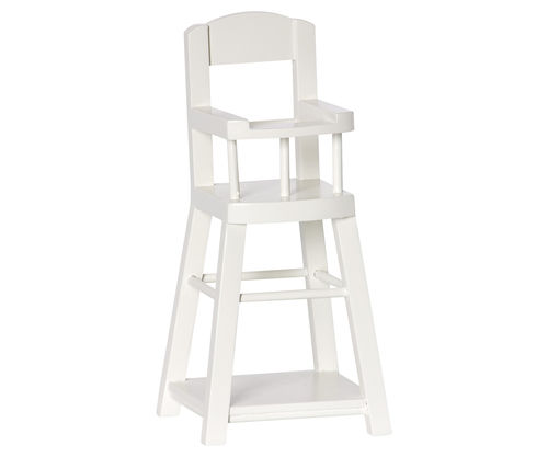 Maileg, High chair, micro, off white, Hochstuhl