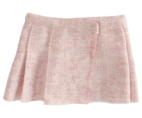 Maileg, Maxi, Wool Tweed Skirt,rose, Rock in Rosa