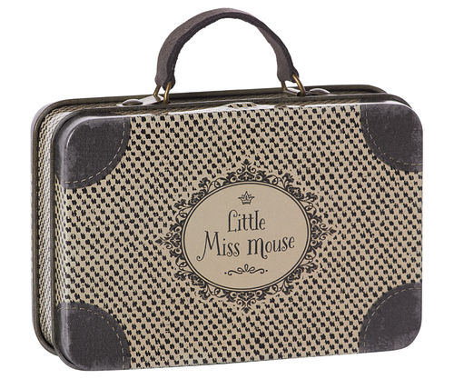 Maileg, Metal travel Suitcase, Little Miss Mouse, Koffer