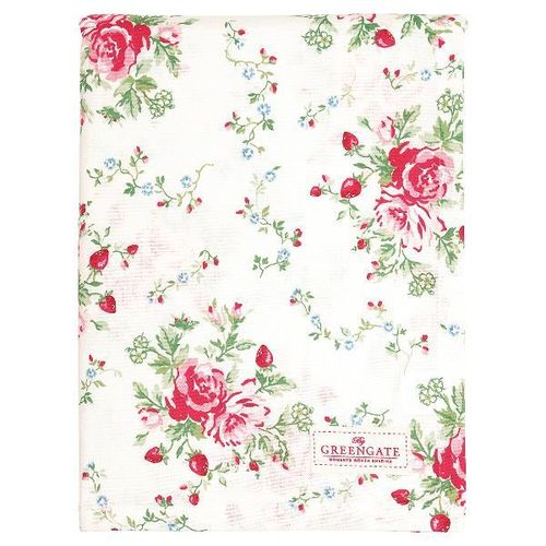 GreenGate Tablecloth Mary white Tischdecke, 145 x 250 cm