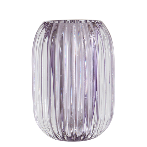 VEGA Tea light holder L lilac, Teelichthalter aus Glas
