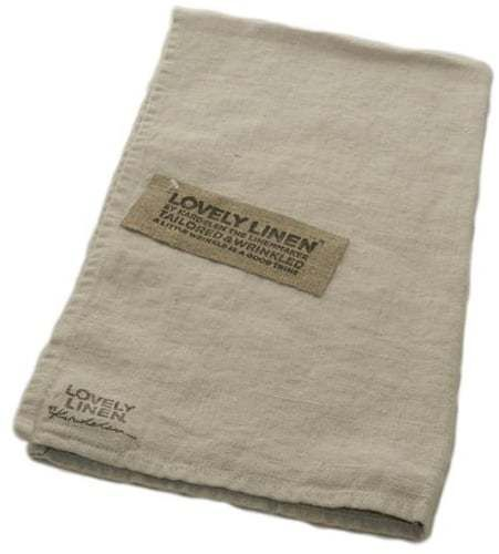 LOVELY LINEN Leinenserviette 45 x 45 cm aus 100% Leinen, Farbe Light Grey