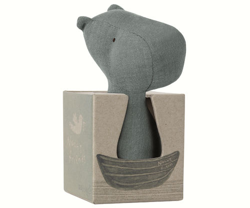 Maileg Noah`s Friend Hippo Rattle