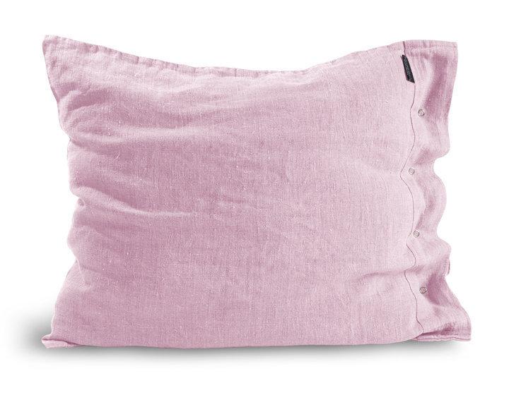 LOVELY LINEN Kissenbezug 80 x 80 cm (Dusty Pink), 100 % Leinen