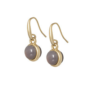 Sence Copenhagen Signature Earrings Grey Agate, Ohrringe mit Stein Grey Agate