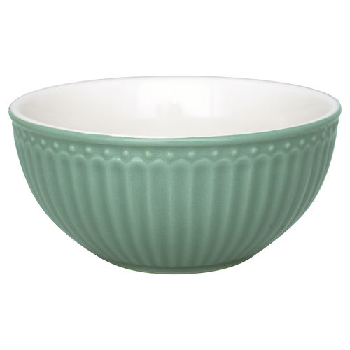GreenGate Cereal bowl Alice dusty green