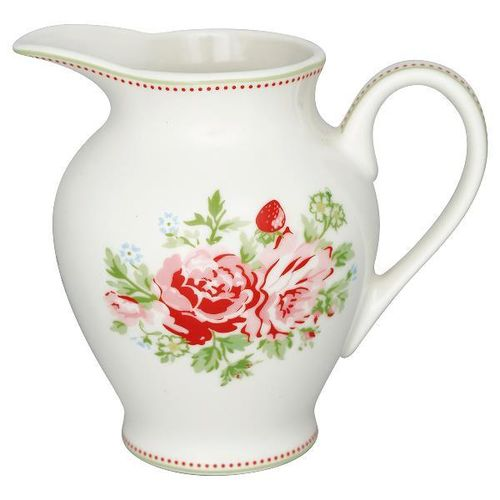 GreenGate Creamer round Mary white