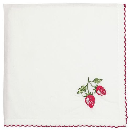 Napkin Strawberry red , Stoffserviette 40 x 40 cm