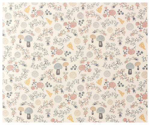 Maileg Giftwrap, Mice Party, 10m Geschenkpapierrolle