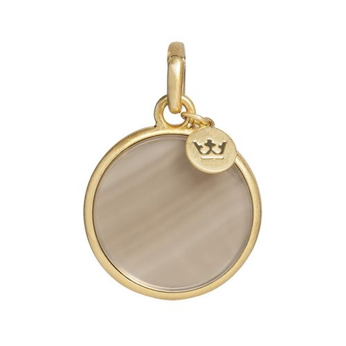Sence Copenhagen Essentials charm disc Grey Agate matt gold, Anhänger
