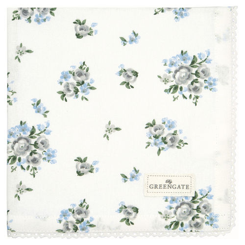 GreenGate Stoffserviette, Napkin with Lace Nicoline beige
