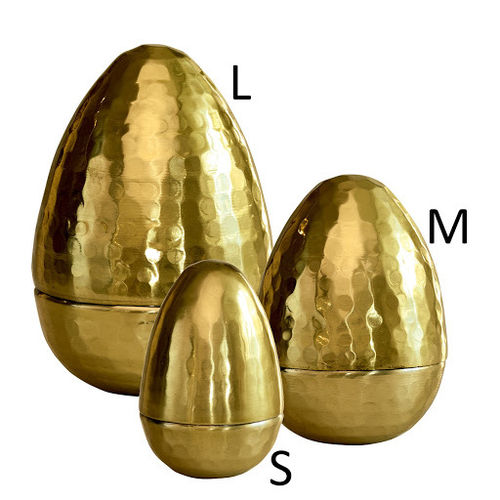 GreenGate Aluminium Egg Gold Set of 3