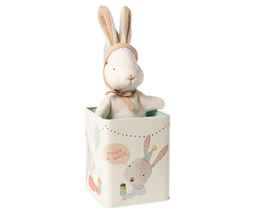 Maileg Happy day bunny in box, Small, Hase in Dose
