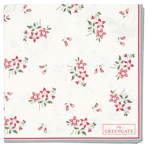 GreenGate Napkin Avery white small 20pcs, Papierserviette
