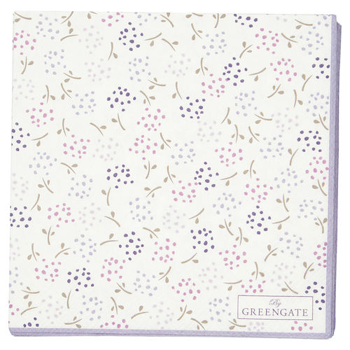 GreenGate Ginny white small 20pcs, Papierserviette