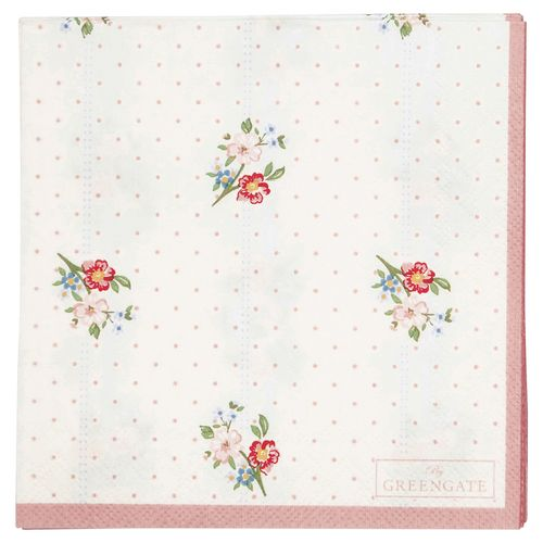 GreenGate Eja white small 20pcs, Papierserviette