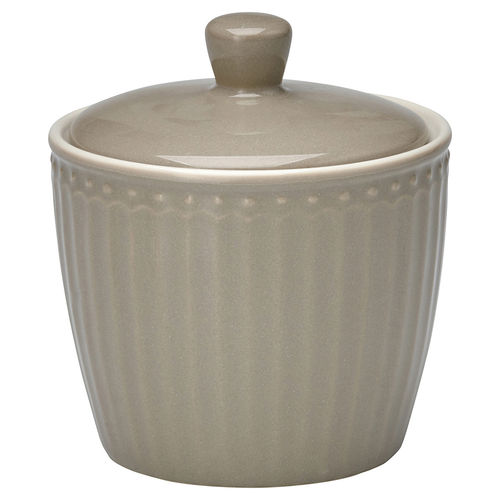 GreenGate Sugar Pot Alice warm grey, Zuckerdose